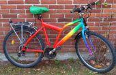 Relooking de vélo arc-en-ciel w. acrylique