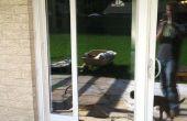 Porte en verre coulissante porte Installation de chien