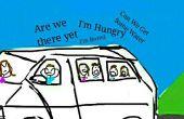 Route des voyages avec des enfants