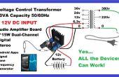 Faire AC onduleur avec App Mobile & amplificateur Audio