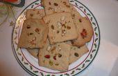 Biscuits de farine et le sucre sans oeufs avec écrous (Biscuit)