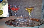 Steampunk - plateau avec verres en cristal