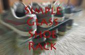 Verre simple étagère à chaussures