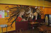 Coffee Shop Airbrush peinture murale (vidéo time-lapse)