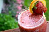 Lever du soleil aux fraises