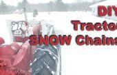 Chaînes à neige sur mesure / bricolage pour pneus de tracteur