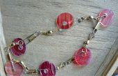 Bracelet de perle - de disques bon marché, facile et shrinky plastique recyclé !