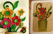 Comment faire une carte de voeux 3D fleur | Quilling oeuvre