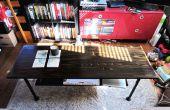 Tuyauterie de style industriel table basse 2-tier w/fer