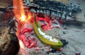 Feu de camp Rôti farci banane