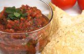 Salsa de tomates grillées de feu
