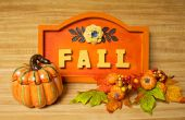 Panneau décoratif automne