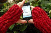 Accès rapide & Easy tricoté des mitaines sans doigts