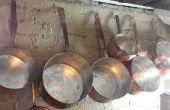 BRICOLAGE main essuya étamage de vieux cuivre Pots/casseroles - Instructions étape par étape