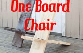 Une planche chaise minimaliste