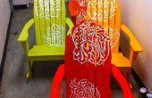 CNC vinyle Spray peint chaises