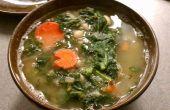 Soupe de chou frisé et haricot blanc