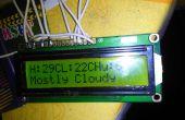Météo affichage utilisant Arduino et framboise Pi