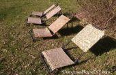 BRICOLAGE de transats avec vieux OIE chasse chaises