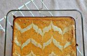 Barres de gâteau au fromage de potiron en marbre