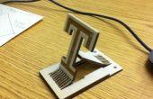 Université de Temple de coupe laser téléphone Stand