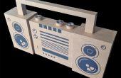BoomBox carton (« n » quick sale concept modélisation 2D en 3D)