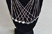 Comment faire un multibrin longue chaine en argent Collier avec perles pour Office Lady