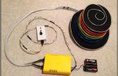 EL fil Hat : Séquencée et sonore activé avec télécommande - propulsé par Arduino et Sparkfun