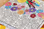 Table de livre de coloriage adulte IKEA Hack