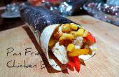 Burrito de poulet poêlée