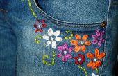 Upcycled brodé Jeans
