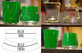 Distorsion oeuvre pour verre gravure chimique et sablage