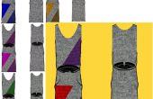 CRAYON de la robe : Robe pull du POP ART GEO... sans manches:)