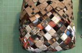 Tissés panier fait de papier recyclé / Junk Mail