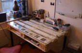Bureau DIY construit avec palette