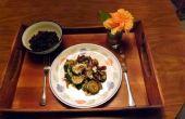 Sauté de courgettes, piments Poblano & oignons rouges