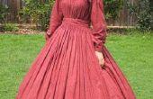 Robe d'ère de guerre civile des années 1860