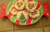 Sandwichs de biscuits de Noël