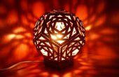 Lampe en carton géométrique