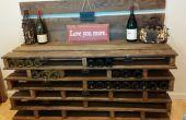 Stockage de vin palette rustique