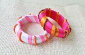 Enveloppé de ruban bricolage perles bracelets