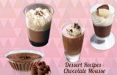 Recettes de desserts - Mousse au chocolat