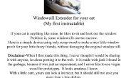 Chat fainéant / Windowsill perche