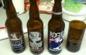 Recyclage des bouteilles de bière en tasses en verre