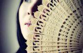 3D imprimé Oriental chinois pliant ventilateur