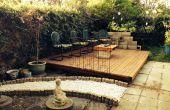 Palette pont de jardin en bois