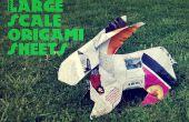 Feuilles d'origami à grande échelle