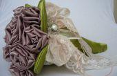 Bouquet de mariée de tissu