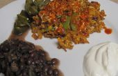Soyrizo brouiller avec haricots noirs et Jalapenos