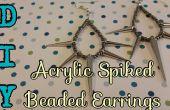 Enrichis de bricolage acrylique perles Boucles d'oreilles